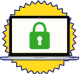 Icon of secure computer